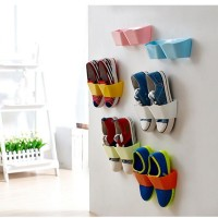 rak simpan gantung sepatu dinding tempel plastik shoes box storage