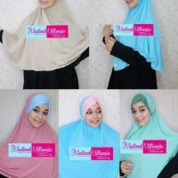 Jilbab/Hijab Instan Kombinasi Warna,Bergo Alka by Ginay 2 IN 1