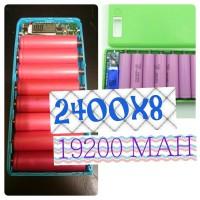 Power bank diy isi 8x sanyo 2400 mah*8 19200 mah