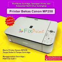 Printer Canon MP258 Bekas, Printer Bekas Canon MP258 MP 258