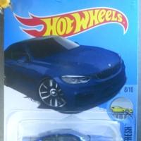 BMW M4 blue biru 4 Series 420i 428i 435i HOT WHEELS HW 2017 miniature