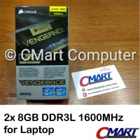 Jual Corsair Vengeance 16GB DDR3L 1600 MHz Memory SODIMM CMSX16GX3M2B1600C9 Murah