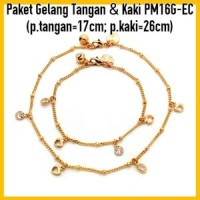 Jual PM16G-EC Paket Gelang Tangan&Kaki Perhiasan Lapis Emas Gold Murah