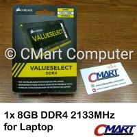 Corsair 8GB DDR4 2133 MHz SODIMM Memory RAM Laptop CMSO8GX4M1A2133C15