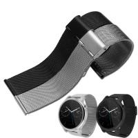 Tali Jam Tangan Rantai Black Mesh Milanese Bracelet Stainless Strap