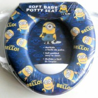Jual Toilet Training Anak - Soft Baby Potty Seat Handle Minion K029 Murah