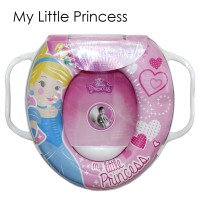 Jual Toilet Training Anak - Soft Baby Potty Seat Handle Cinderella K025 Murah
