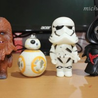 Figure Set 4 Char Star Wars Chibi / Hiasan Kue Ulang Tahun Star Wars