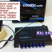 Parametric EQ/ Pream COUSTIC Audio CA-803 Mixer +adaptor 12volt home