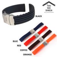22mm Tali Jam Rubber Strip Watch Strap Silicone Model Garis Strip