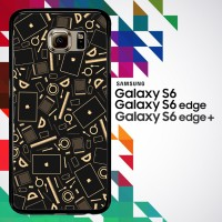 Coffee Addict Between Coffe and Apple 0169 Casing for Galaxy S6 Hardca