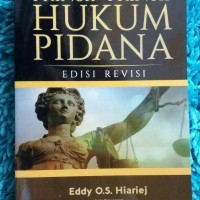 Prinsip-Prinsip Hukum Pidana edisi Revisi - Eddy O.S. Hiariej