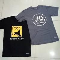 Kaos Baju Custom Desain Bebas Tulisan 1/2 warna Uk A3