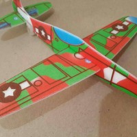 pesawat gabus rakit lego flying glider mainan jadul bisa terbang