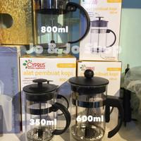 coffee plunger penyaring pembuat kopi teh 600ml