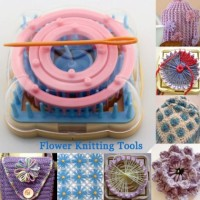 Knitting Loom Flower/ alat pembuat bunga dari benang rajut