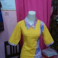 Blus batik kombinasi embos pekalongan asimetris ecer dan grosir