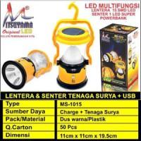 Lentera Emergensi + Senter + PowerBank tenaga Surya