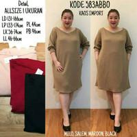 BIG SIZE BAJU BIGSIZE : BAJU ATASAN TUNIK DRESS CASUAL SAKU JUMBO BIGS