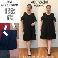BIG SIZE BAJU BIGSIZE : BAJU ATASAN TUNIK DRESS SHOULDER JUMBO BIGSIZE