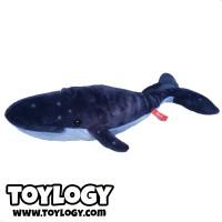 Boneka Hewan Paus Biru ( Ozco Blue Whale Stuffed Animal ) 17 Inch