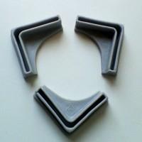 kaki plastik union untuk rak besi siku 4x4 cm