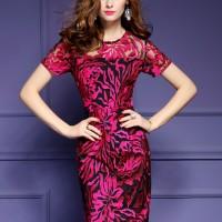 Midi Dress Pesta Baju Gaun Pesta DZD032029 FC Korean Fashion Dress
