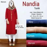 Baju Atasan Muslim Wanita / Blouse Muslim [nandia Tunik]