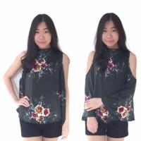 harga Baju Atasan Wanita Blouse Bunga Model Korea Hot Item Tokopedia.com