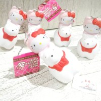 SQUISHY HELLO KITTY RIDING WITH HK SWEET CAFE TAG by sanrio