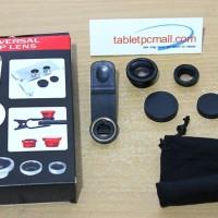 Fisheye 3in1 Jepit 3 Lensa Universal Wide Macro Partner Limited