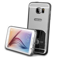 Bumper Mirror Samsung galaxy J1 Mini Alumunium Metal Sliding Casing Hp