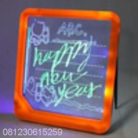 Jual LED Writing Board / Papan Tulis LED (Only Battery) #JJK82 Murah