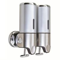 Jual tempat sabun cair double / shampoo & soap dispenser stainless steel Murah