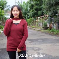 HOT SALE grosir baju murah/baju atasan/Baju Rajut / Jasmine Vee Sweate