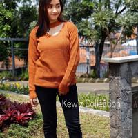 SALE Sweater Rajut Wanita Murah / Atasan / Blouse / Jasmine Vee Coral