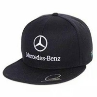 Topi Snapback Cotton Mercedes - Benz Hitam
