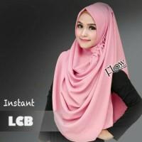 hijab jilbab instan LBC bahan diamond georgette