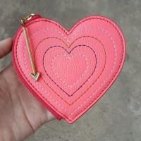 Dompet Koin Fossil Zip Heart Woman Coin Wallet Original