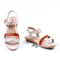Jual Sepatu Sandal Wanita Platform Ankle Strap AD04 Tan Murah
