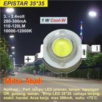 HPL 1W EPISTAR Cool White 35x35 10000-12000K 280-300 mA
