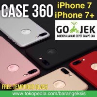Jual CASE 360 Full Protective iPhone 7, 7 PLUS HARDCASE FREE Tempered Glass Murah