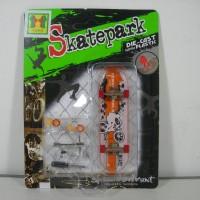 yoyo 182-2 skatepark fingger board tech deck kw isi1 oren-putih
