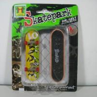 yoyo 182-2 skatepark fingger board tech deck kw isi2 kuning-hijau