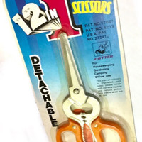 Gunting 12 in 1 - multifungsi/multi purpose scissors - pembuka kaleng