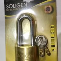Kunci Soligen Padlock / Gembok Kuningan / 50mm Panjang - Kunci Kompute