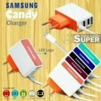 TRAVEL CHARGER 2USB LED KOTAK 2.1A FOR GALAXY IPHONE IPADS USB DEVICES