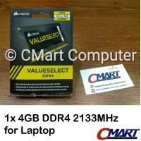 Corsair 4GB DDR4 2133 MHz SODIMM Memory RAM Laptop CMSO4GX4M1A2133C15