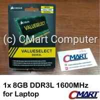 Corsair 8GB DDR3L 1600 MHz SODIMM Memory RAM Laptop CMSO8GX3M1C1600C11