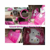 Sarung Jok Mobil 18 in 1 Hello Kitty Pink Toyota Yaris 2008
